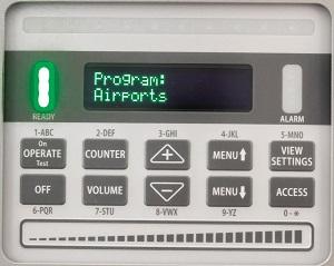 Клавиатура управления арочного металлодетектора MZ 6100