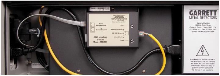 Размещение модуля компьютерного интерфейса СМА