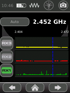 Экранные функции нелинейного локатора ORION 2.4 HX
