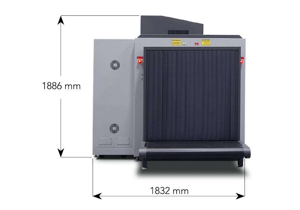 Габариты рентгенотелевизионного интроскопа Astrophysics XIS-100XDX