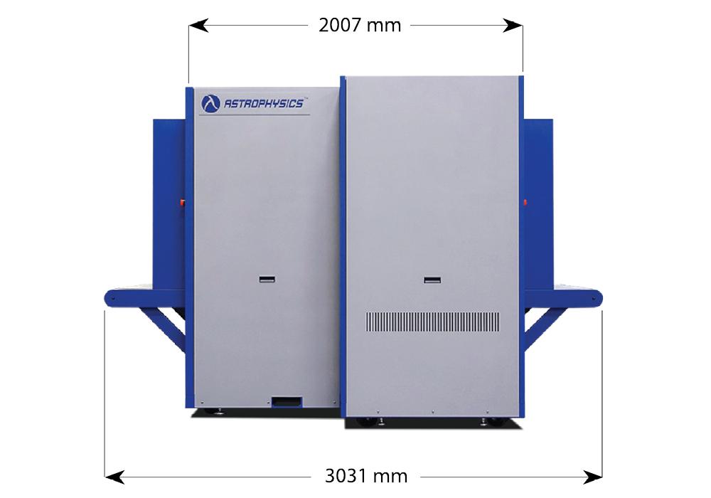 Габариты рентгенотелевизионного интроскопа Astrophysics XIS-100XDV