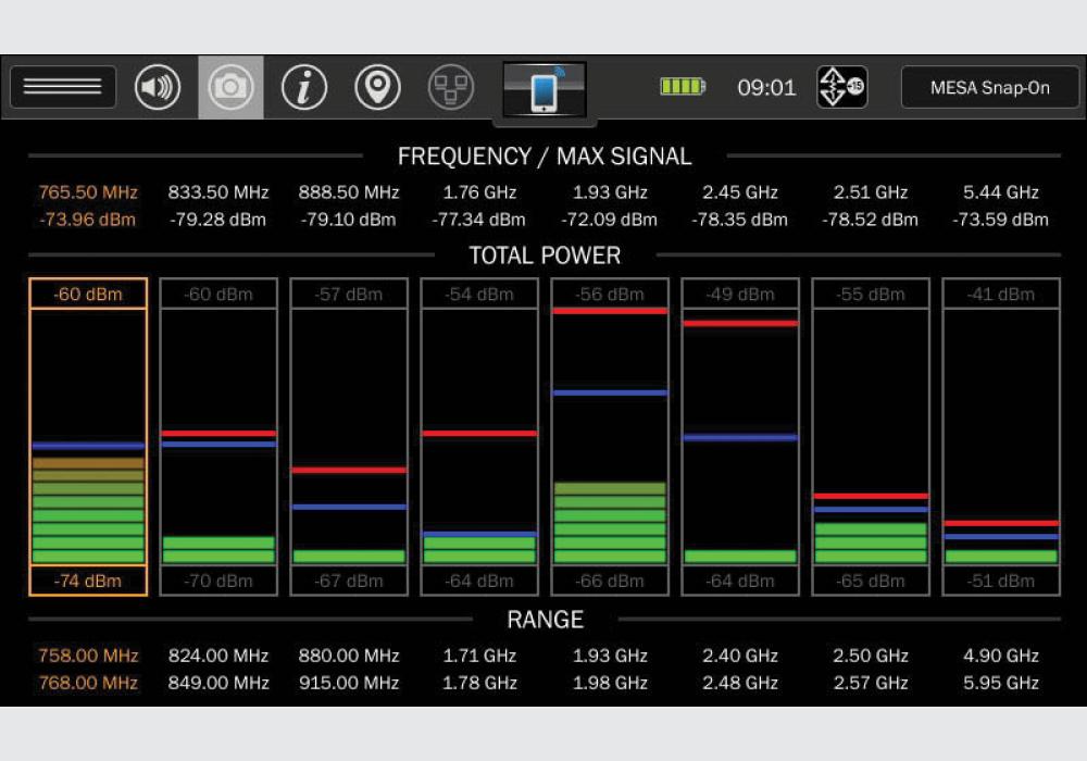 Портативный анализатор  спектра MESA Deluxe